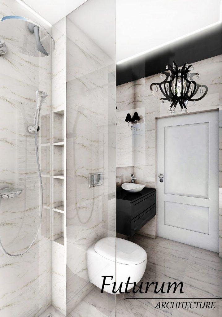 Dom pod Warszawą w stylu glamour