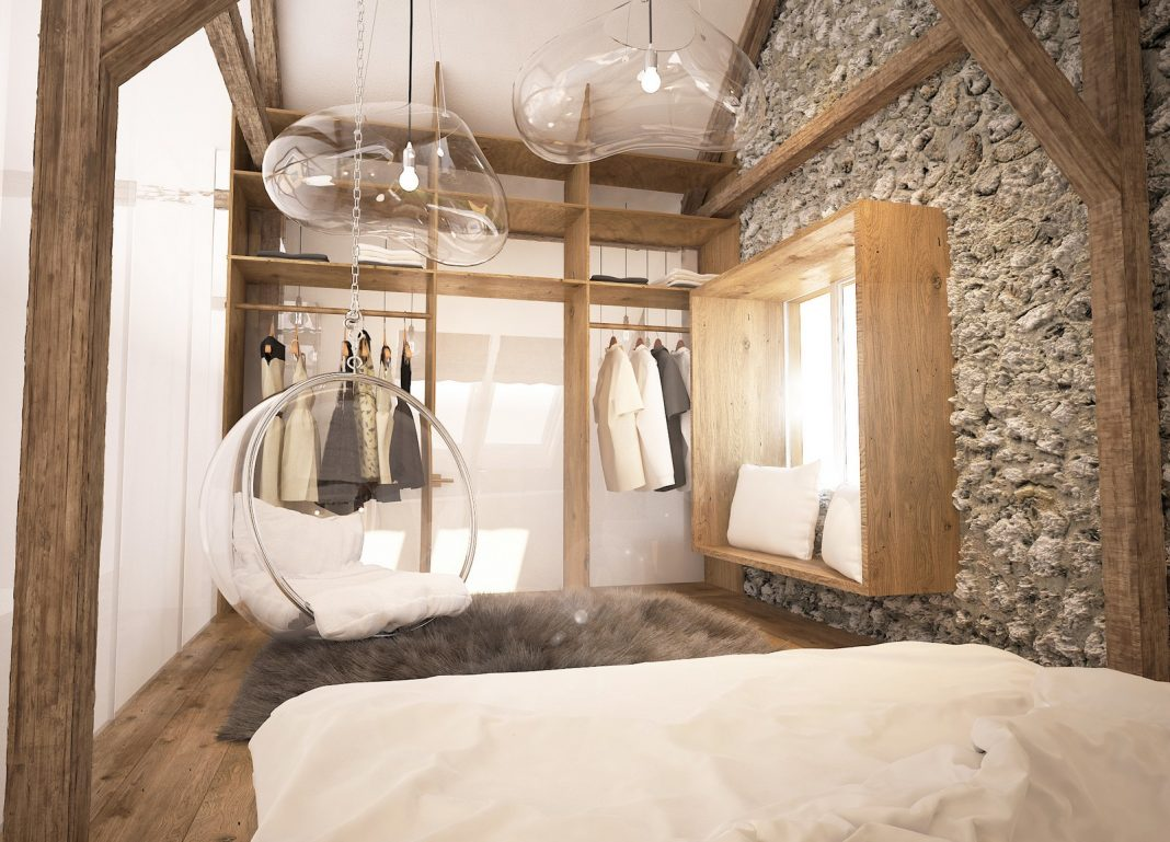 Projekt sypialni i łazienki w Przymiłowicach