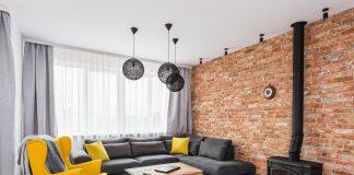 Polskie Wnętrza - Projekt salonu i jadaln w tylu prowansalsko-industrialnym