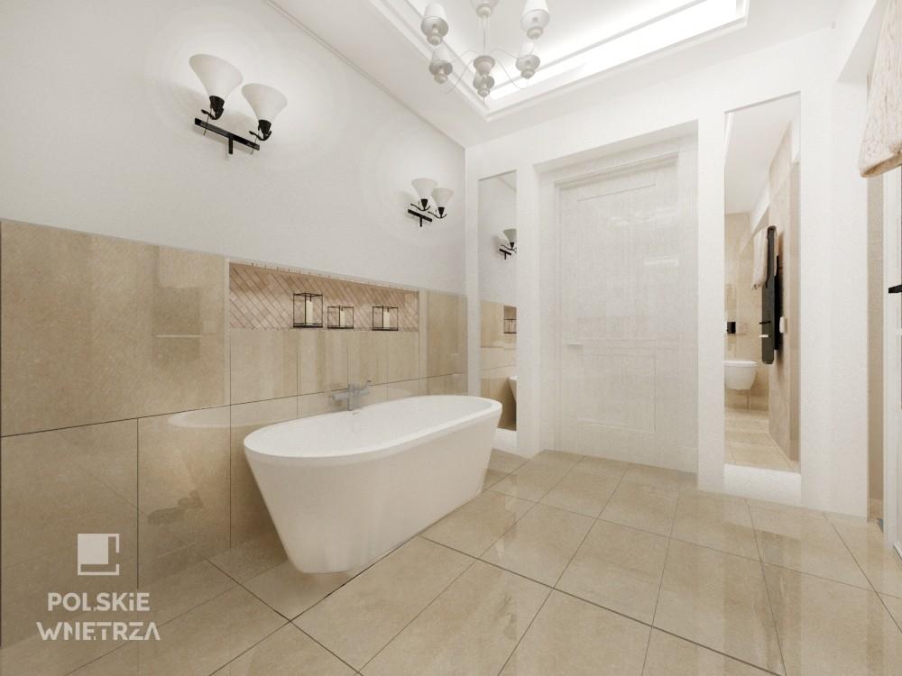 Pokój łazienkowy w stylu neo glamour
