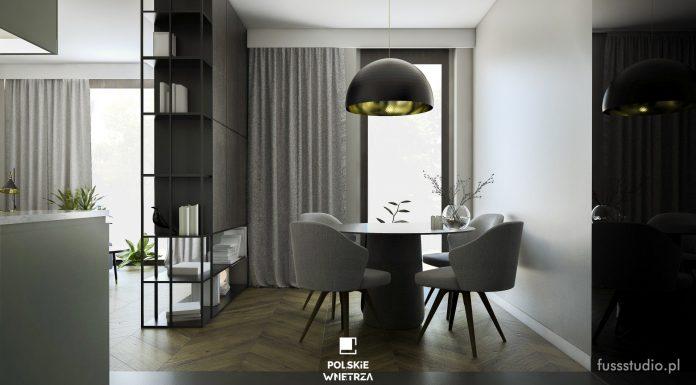 Polskie Wnętrza - Projekt apartamentu w stylu hotelowym od Fuss Studio.