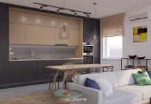 Mieszkanie industrialne zaprojektowanie przez Wizualhome
