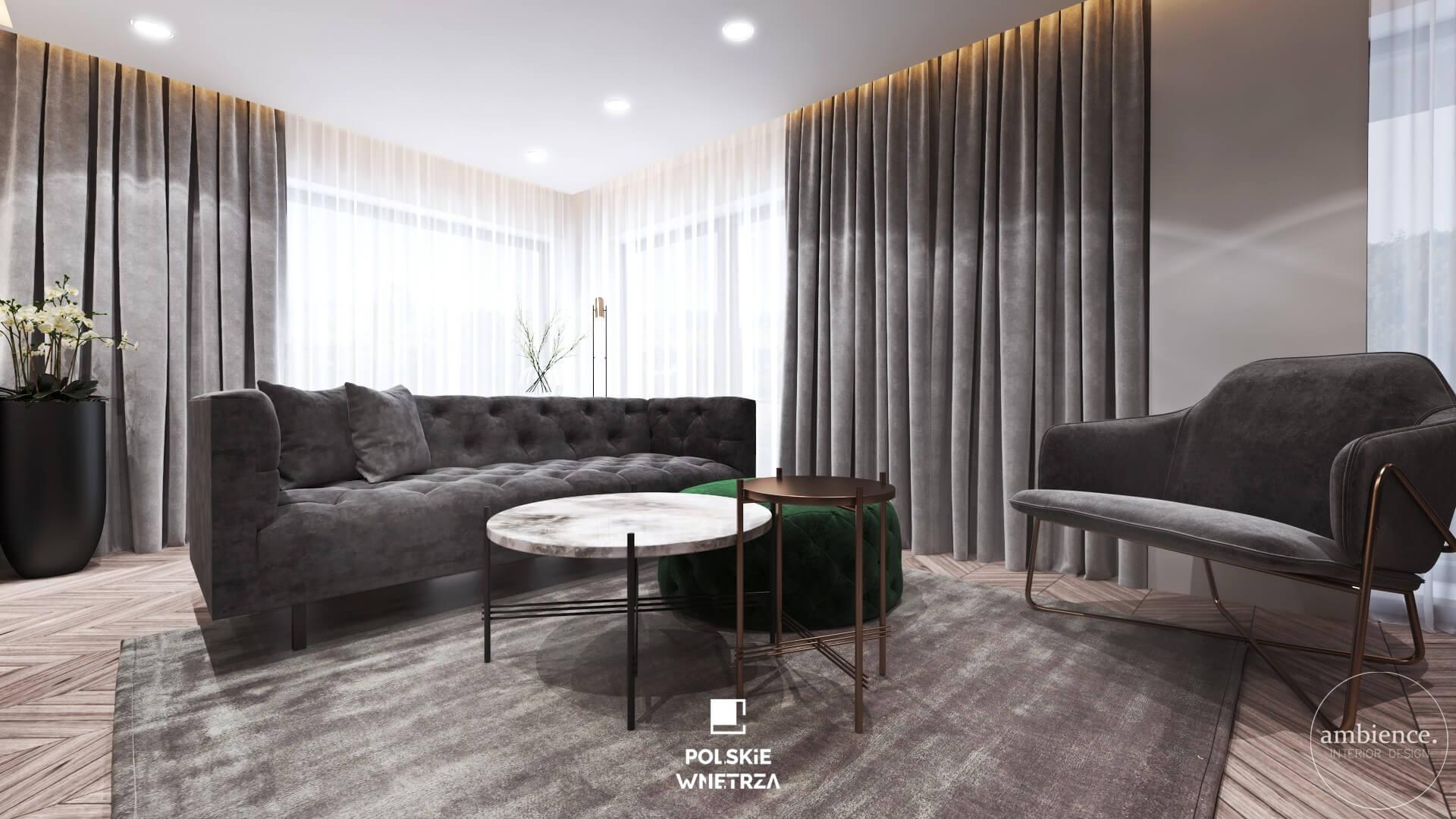 Projekt apartamentu w Londynie od Ambience. Interior Design - Polskie Wnętrza - www.polskie-wnetrza.pl