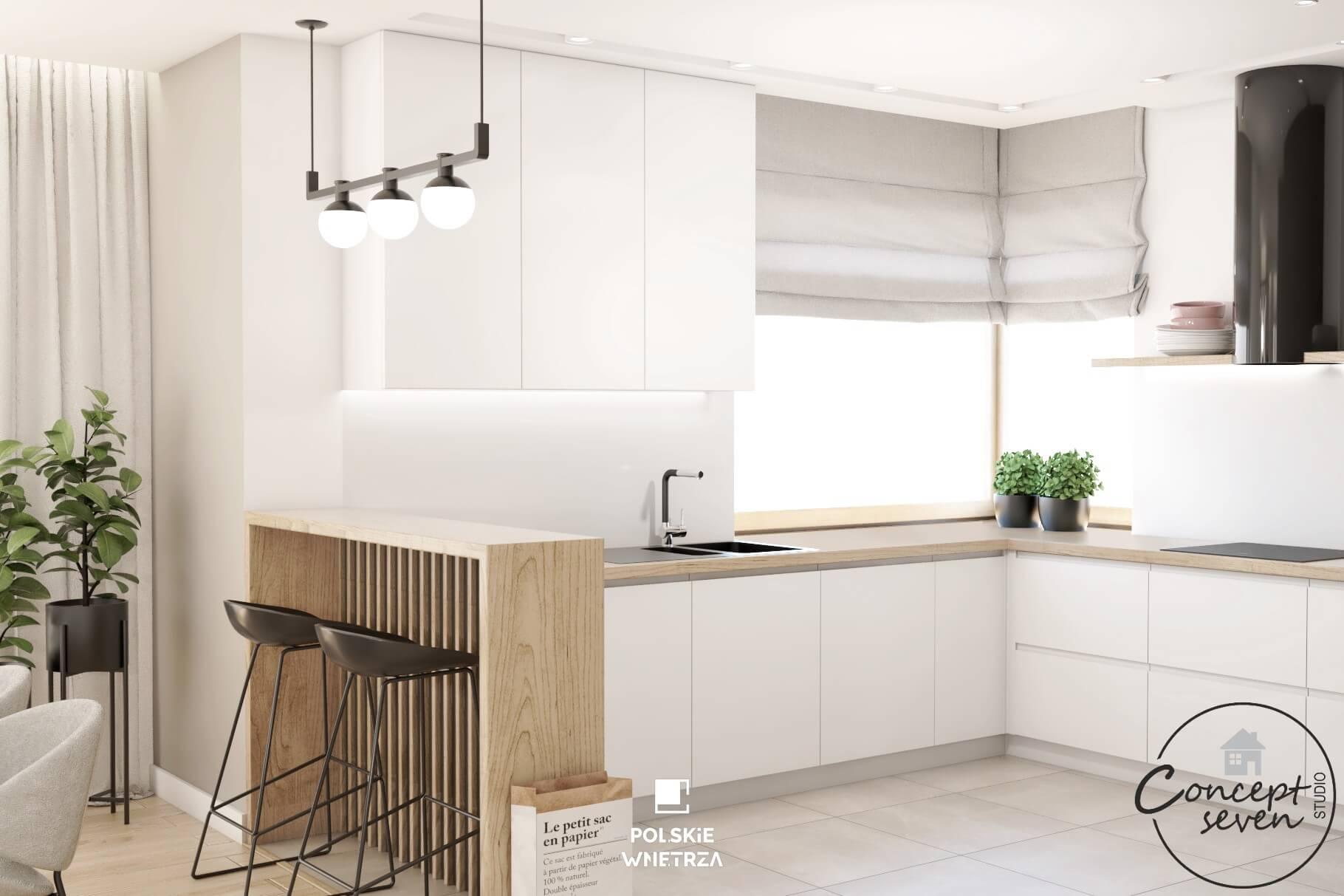 MintSky projekt wnętrza w minimalistycznym stylu - Polskie Wnętrza