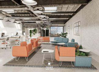 Koralowy we wnętrzach biurowych czyli kolor roku 2019 wg Pantone