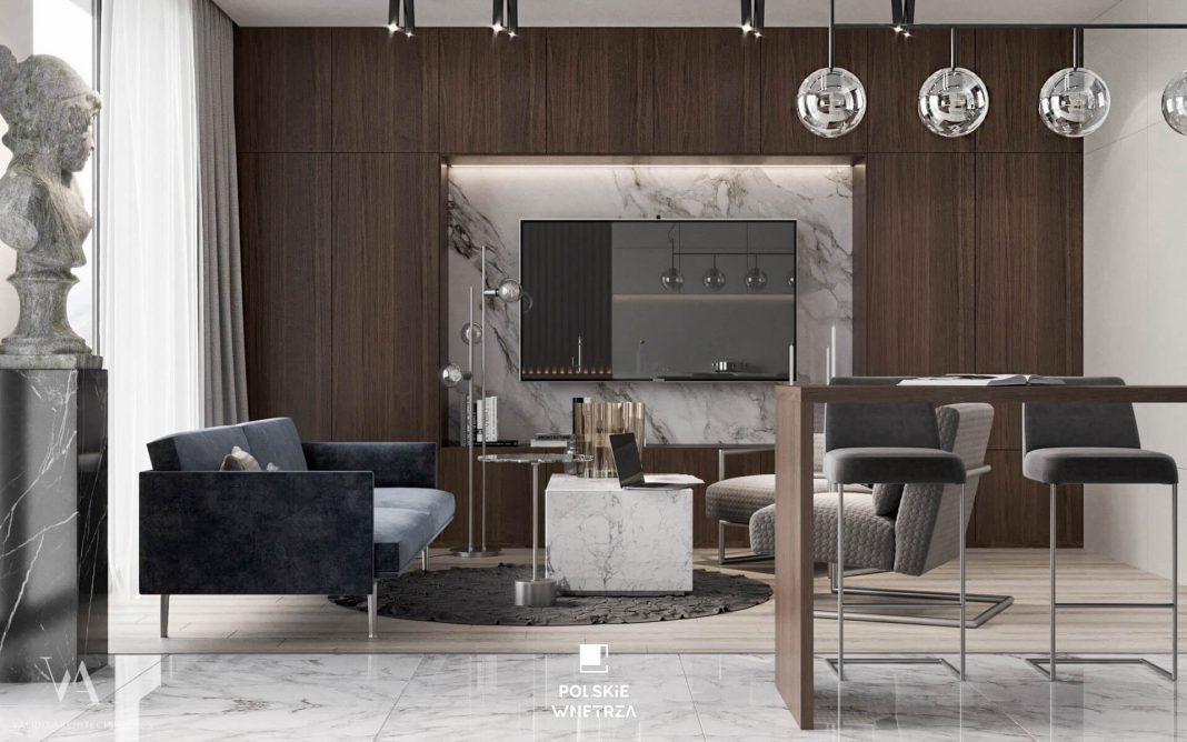 Mieszkanie w stylu artdeco - Polskie Wnętrza