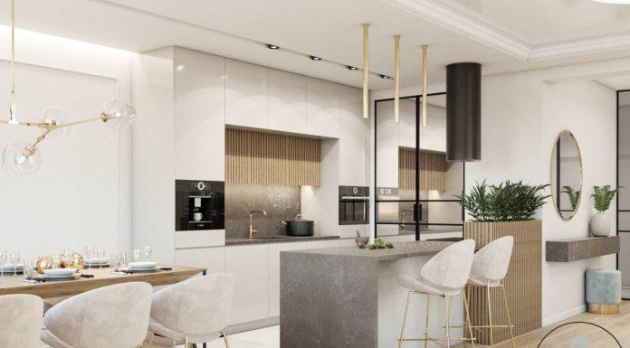 Projekt apartamentu w złocie - Polskie Wnętrza