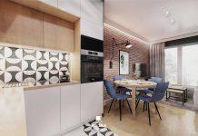 Polskie Wnętrza - Projekt mieszkania 3 pokojowego