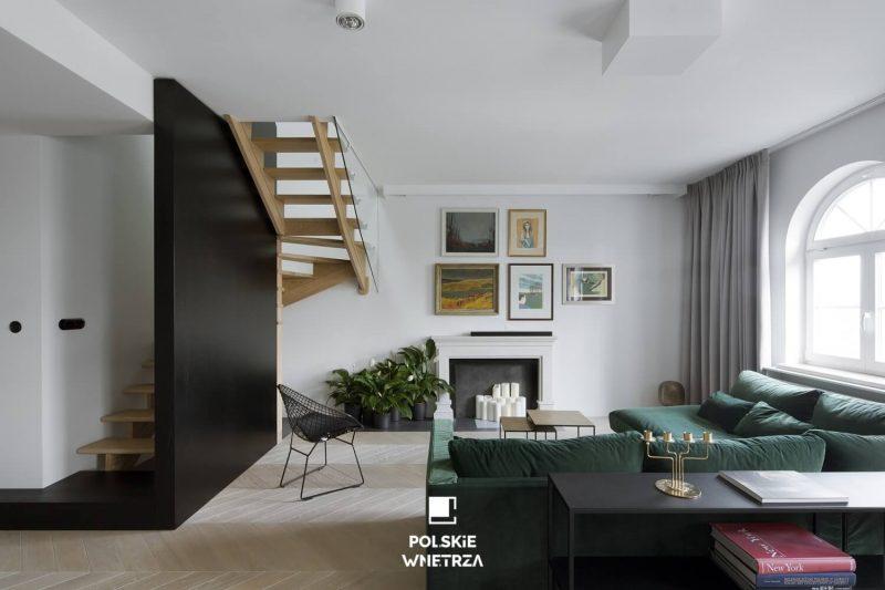 Apartament z prywatna biblioteczka - Polskie Wnętrza