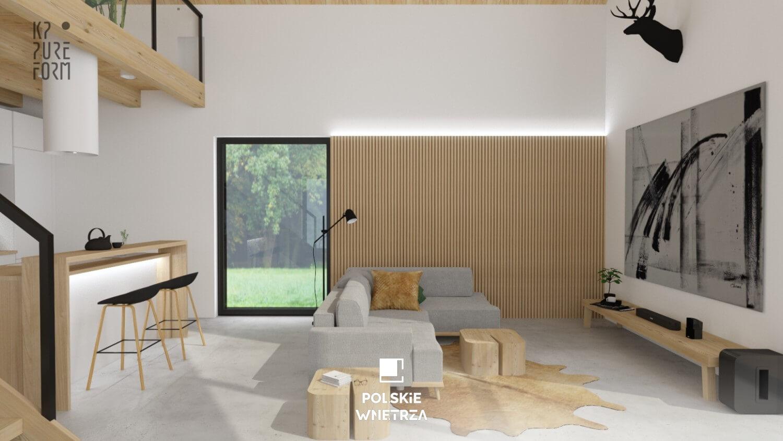 Projekt wnętrz nowoczesnej stodoły | 01