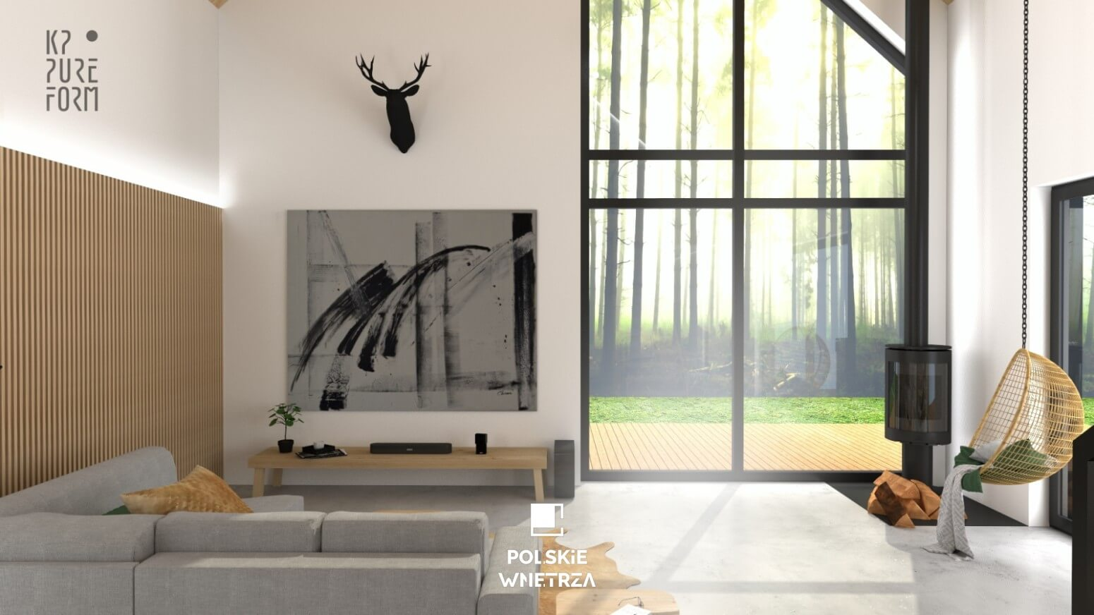 Projekt wnętrz nowoczesnej stodoły | 02