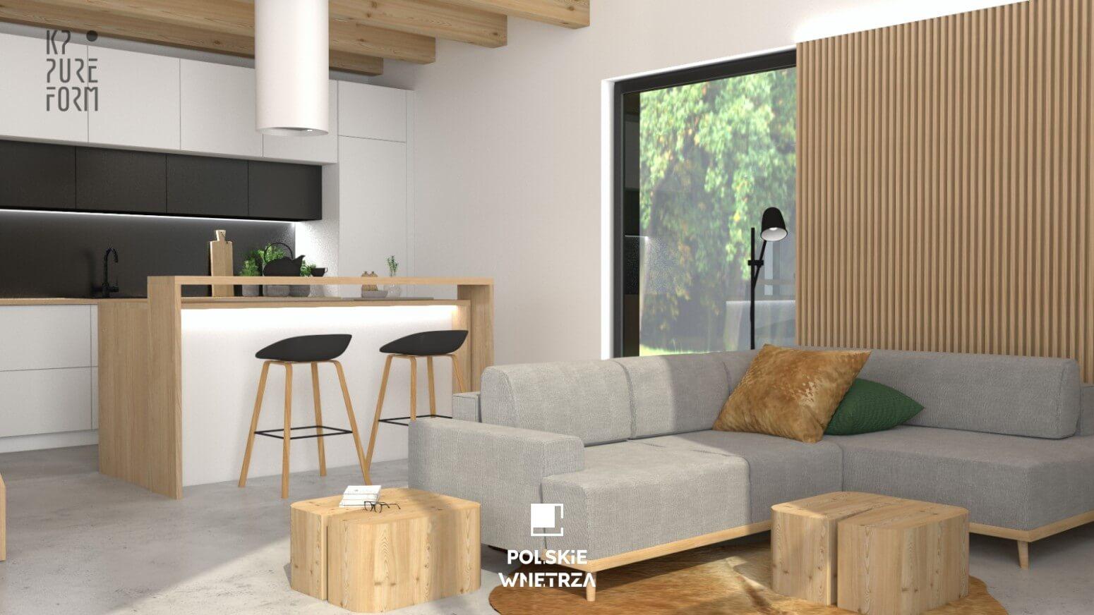 Projekt wnętrz nowoczesnej stodoły | 03