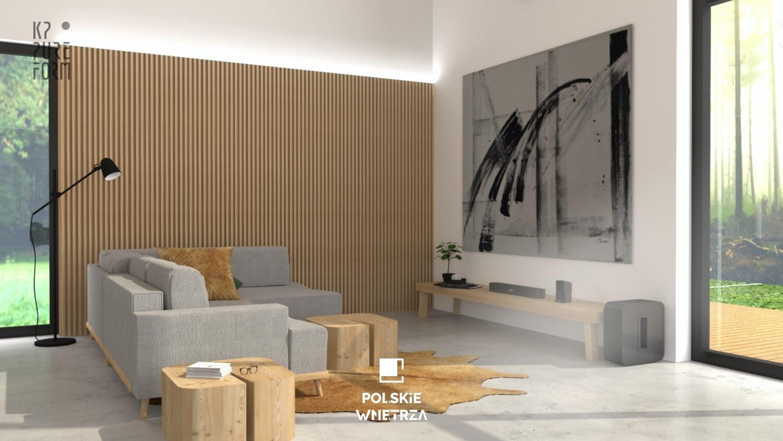 Projekt wnętrz nowoczesnej stodoły | 04