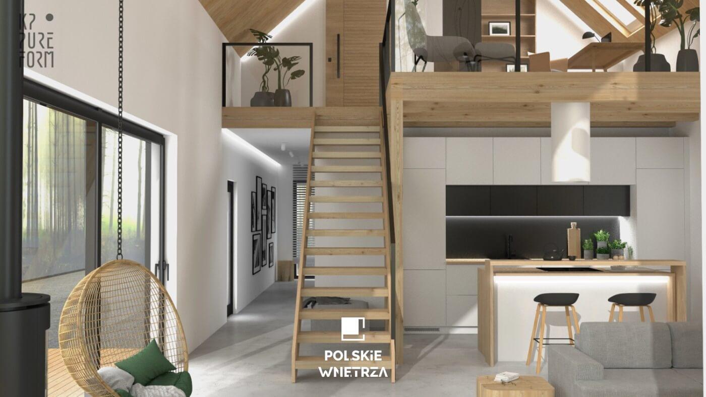 Projekt wnętrz nowoczesnej stodoły | 06