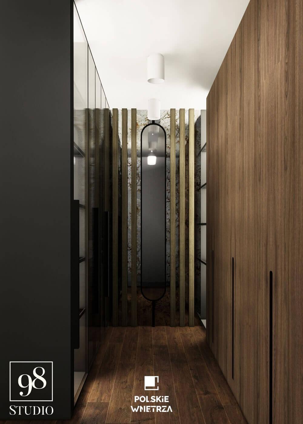Studio 98 - Projekt domu ONE House - garderoba