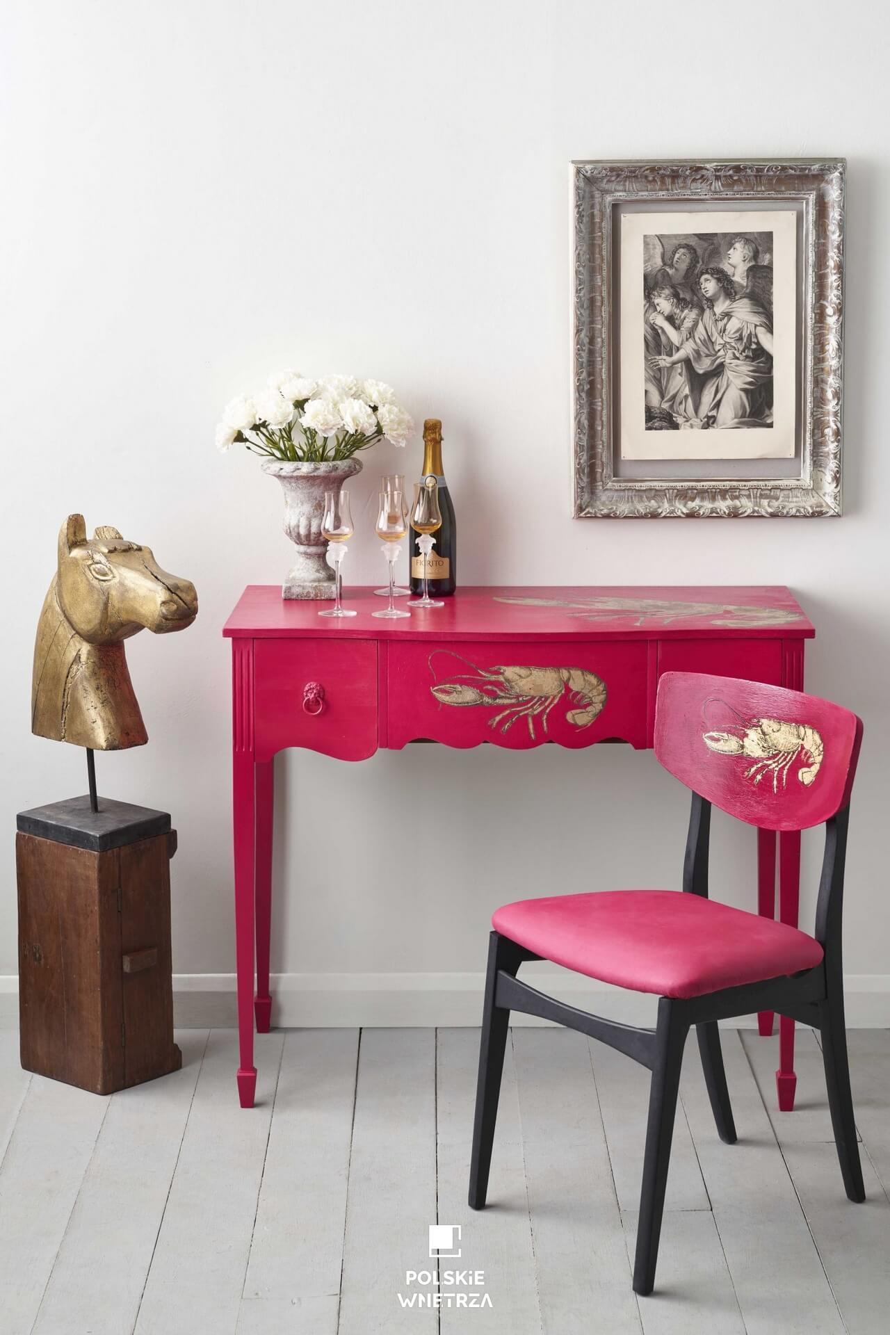 Gorący Capri Pink - nowy kolor w palecie farb kredowych Annie Sloan